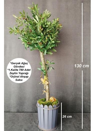 Kuru Çiçek Deposu Yapay Ağaç 1.Kalite Zeytin Ağacı 130 cm Renkli